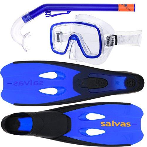 Salvas Cancun Kinder Schnorchel und Tauchset (Made in Italy) - blau [27-30]