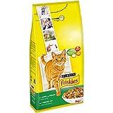 Friskies Chat Croquettes pour Chat Adulte Lapin/Poulet/Légumes Ajoutés 2 kg