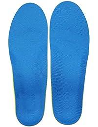 Confort Semelles Orthopédique Soutien Voûte Plantaire Pr Douleur au Talon, Fasciite Plantaire Absorption Choc - Bleu, S