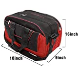 #8: travel luggage storage duffle bag with adjustable strap (18x9x16 inch)