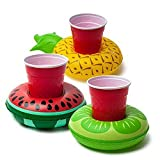 gzq 3Aufblasbare Getränke Becherhalter Ananas Boote Pool schwimmt Air Bier Cup für Schwimmen Baden Beach Summer Party Kids Bath Toys