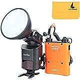 Godox Flash Speedlite Externe Portable AD360II-C TTL 360W GN80 2.4G Sans Fil avec 4500mAh PB960 Lithium Batterie Orange pour Canon EOS Caméra DSLR