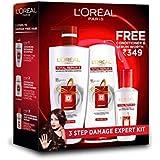L'Oreal Paris Total Repair 5 Shampoo 704ml Combo with Conditioner, 192.5ml + Serum, 40ml FREE