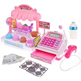 MagiDeal 36 Pcs Simulation Ice Cream Store Cash Register Set W/Music & Light Kids Food Pretend Play Toy Birthday Gift