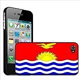 Fancy A Snuggle - Carcasa rígida para iPhone 4 y 4S, diseño de la bandera de Kiribati
