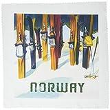 3dRose QS 163648_ 4Bild von Ski mit Wort norway-quilt