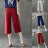 #9: Comfy Stretch Pantalon Women Daily Casual Lady Solid Plus Size Linen Harem Pants Baggy Loose Trousers