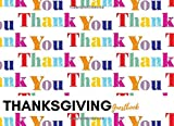 """Thanksgiving Guestbook: Thank You Cover Guest Book Message Book 