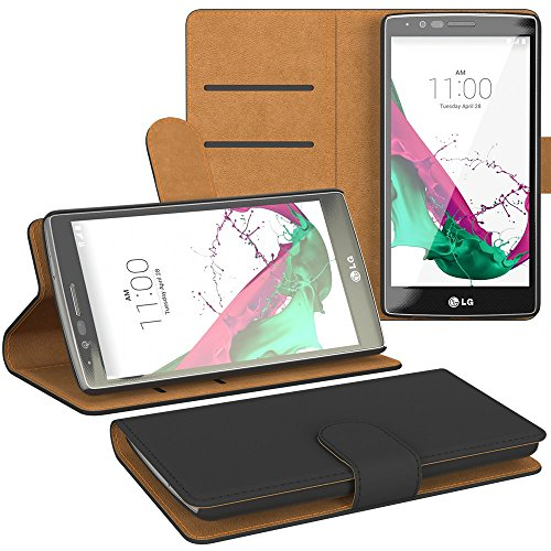 LG G5 Hülle, EAZY CASE Premium Flip Case Handyhülle - Schutzhülle zum Aufklappen in Schwarz Schwarz (Book)