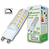Lámpara LED greenandco® regulable G9 3,5W (corresponde a 25-35W) 280lm 3000K (blanco cálido) 270° 230V AC