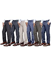 Indistar Combo Offer Mens Formal Trouser (Pack Of 6) - B01JLUU1YO