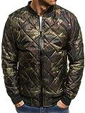 OZONEE Mix Herren Hoodie Funktionsjacke Casual Zip Sportswear Modern Übergangsjacke Jacke Bomberjacke Fliegerjacke SteppjackeFreizeitjacke Sportjacke JS/HS05 Khaki L