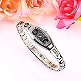 Lnyy Damen Armbanduhr weiblichen Trend weibliche Uhr Wasser Diamant Briten sehen Wolfram Stahl Armband Tabelle weiblich