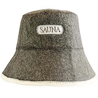 ★ DIY - Sauna Hat - incl. Sauna e-Book – Sauna label – 100% Cotton – Felt Sauna Cap