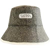 """DIYer - Sombrero para sauna - sombrero motivo bordado""""Sauna"""" - 100% algodón - gorra de fieltro para sauna"""