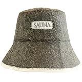DIYer® - Saunahut - inkl. Sauna-Ratgeber - Motiv Aufschrift Sauna - 100% Baumwolle - Filz Saunamütze