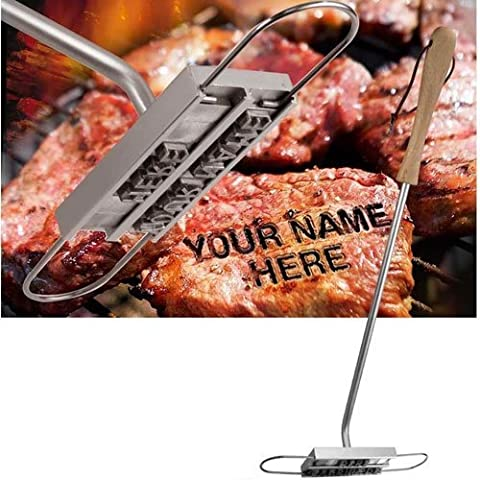 Freelogix Barbecue BBQ Branding Iron Tool Grill Meat Steak Burger Chicken With 55 Letters by