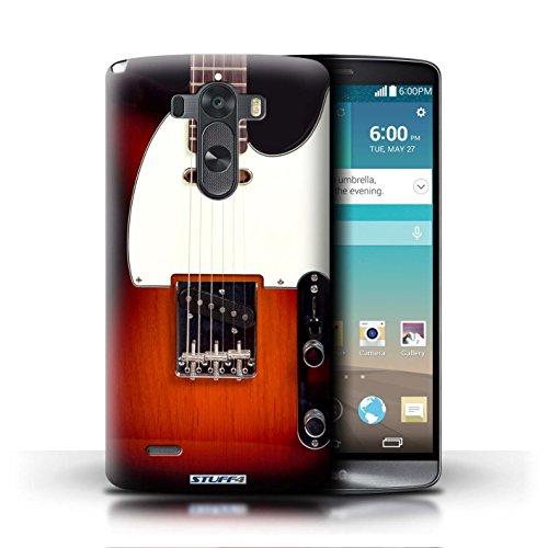 Kobalt® Imprimé Etui / Coque pour LG G3/D850/D855 / Sunburst Acoustique conception / Série Guitare Sunburst Electrique