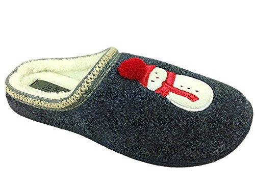 Jo & Joes - Pantofole da ragazza' Unisex per bambini donna Ragazzi , (Uomo di neve), 38 EU