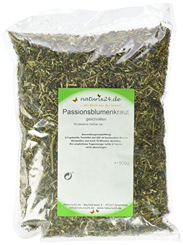 Naturix24 Passionsblumen Tee, Passionsblumenkraut geschnitten, 1er Pack (1 x 500 g) -
