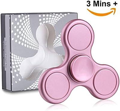 Fidget Spinner de Vivahouse | Juguete Hand Spinner Alivia Estrés y Ansiedad TDAH Autismo TDA Para Más Calma Claridad Atención | Gadget Silencioso de Giros de Aleación Tamaño Bolsillo (Petunia Rosa)