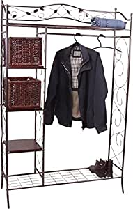 moebel direkt online metallgarderobe schwarz k che haushalt. Black Bedroom Furniture Sets. Home Design Ideas