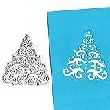 TIMEMEANS New Snowflake métal Coupe Meurt pochoirs DIY Scrapbooking Album Papier de Papier Taglia Unica Silver