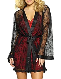 Jezebel Women's Tama Lace Satin Kimono