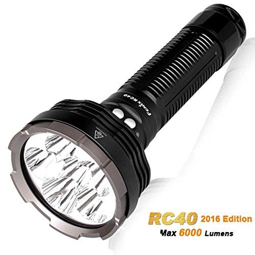 RC40 Cree XM-L2 U2 LED Taschenlampe mit 6000 Lumen, wiederaufladbar