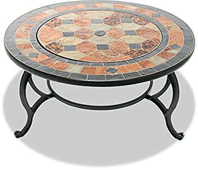 Centurion Supports Fireology Laniaka Lavish Garden Patio Heater Fire Pit Brazier Coffee Table Barbecue And Ice Bucket With Slate Tiles by Centurion Supports