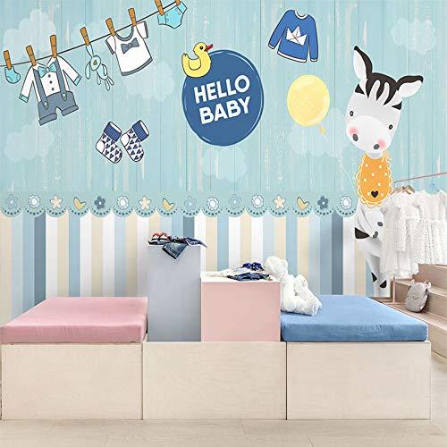 Personality Cartoon Kleid Kinderkleidung Shop Hintergrund Wand Papier Frauen Kleidung Shop Kinderzimmer Kindergarten Dekoration Tapete Umweltschutz