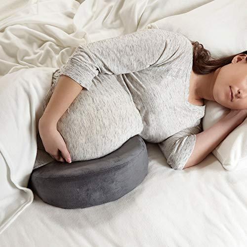 Siava Orthopädisches Schwangerschaftskissen/Lagerungskissen/Keilkissen, unterstützt Bauch, Rücken und Knie, für Bett und Sofa