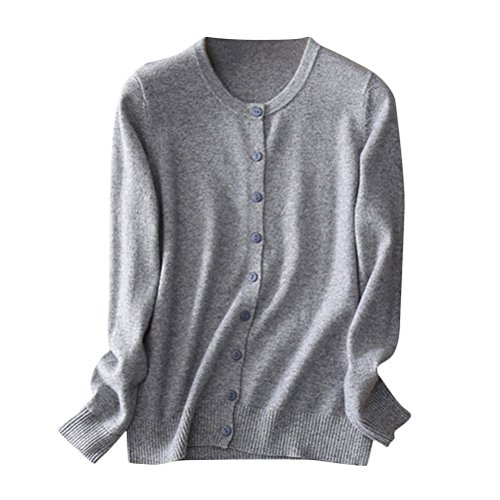 Brinny Femme nouvelle printemps pull col ronde manches longues grande taille Gris