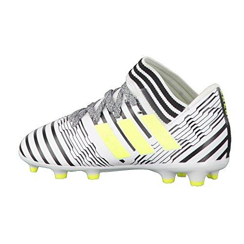 adidas Nemeziz 17.3 Fg J, Chaussures de Football Garçon, Blanc Blanc (Ftwbla/Amasol/Negbas)