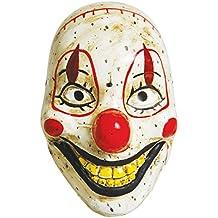 Creepy Clown Doll Maske als Horrorclown Halbmaske im antiken Puppen-Look
