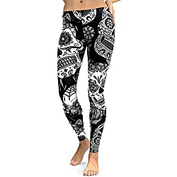Sallydream Leggins Mujer Fitness Lycra Pantalones Mujer Cintura Alta Corto Leggins Mujer Fitness Lycra (Negro,M)