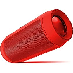 OGM BEST DEAL FOR ALL CUSTOMERS ||| Bass Master Go Portable wireless Bluetooth Dual speaker ( 2X3W ) with DTS effect with Inbuilt FM radio Plug & Play USB Port Memory card slot, Aux in , Voice / data calls supported Compatible for OnePlus Lenovo Samsung Apple IPhone Xiaomi Motorola Asus Honor Intex Oppo Cool pad Gionee HTC Vivo Micromax data wind LeEco Lava LYF Spice Blackberry In focus Android Mobiles/ Tablets, Laptops & Gaming Consoles-EZ232 -Red