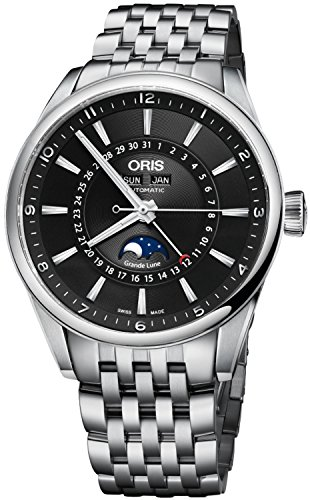 Oris Artix Complication Moonphase Automatic Steel Mens Watch Calendar 915-7643-4034-MB