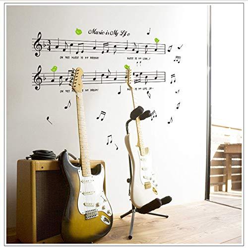 Meaosy 1 Satz Große Größe 70 * 120 Cm Musik Aufkleber Musik Ist Mein Leben Thema Musik Schlafzimmer Dekor & Tanz Musik Hinweis Abnehmbare Wand Aufkleber
