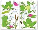 16-teiliges Frosch Teich Wandtattoo Set Kinderzimmer Babyzimmer in 4 Größen (2x16x26cm mehrfarbig)