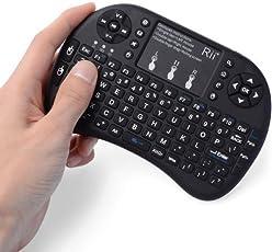 Mobipro RiiTek i8 Mini wireless keyboard and mouse, Touchpad combo, 2.4G (Black,vg-wka-20)