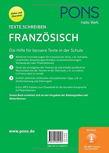 pons texte schreiben franzsisch aufsatz textanalyse zusammenfassung prsentation fr oberstufe und abitur - Zusammenfassung Franz Sisch