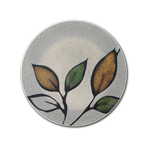 Pfaltzgraff Everyday Rustic Leaves Set of 4 Coasters - Green|Gray|Gold