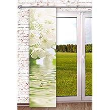 Schiebegardine blickdicht Digitaldruck Bambus grün  60cm x 245cm