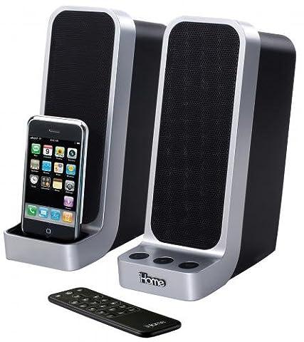 SDI iHome iP71BRE Lautsprecherpaar für Mac, PC, Notebooks, MacBook - mit Docking-Station für iPhone/iPod