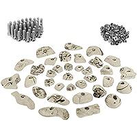 ALPIDEX 35 presas set de iniciación para niños - tornillos y 100 tuercas de inserción inclusive, Color:blanco-moteado