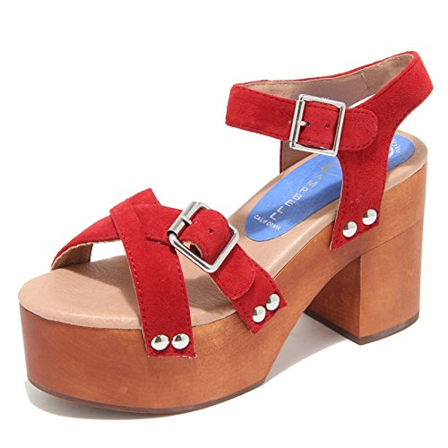 4386M sandali donna JEFFREY CAMPBELL legno peasy women shoes sandals Rosso
