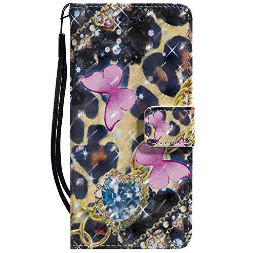 Tosim LG G8 / G8S ThinQ Hülle Klappbar Leder, Brieftasche Handyhülle Klapphülle mit Kartenhalter Stossfest Lederhülle für LG G8 / G8S - TOKTU050321 T5