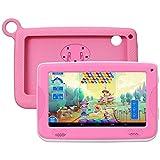 Enfant TabletteTactile Kivors 7 pounce tablette PC 8G ROM Android 4.4 Quad Core 1.0GHz Tablet pour les enfants (Rose)