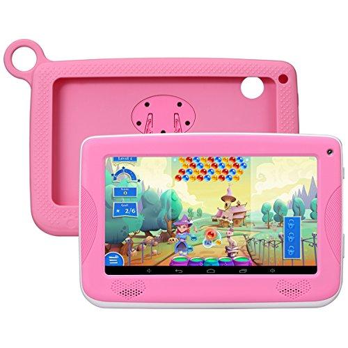 Kivors Tablet para Niño   Tablet Infantil 7 Pulgadas ( Android 4.4 A9 1.2Ghz Quad Core , 1024x600 HD Display, 512+8GB, Dual Camera, Wifi ,Bluetooth ) Regalo para Niños